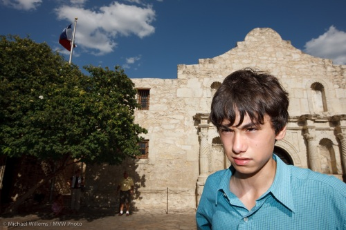 Daniel at the Alamo, photo Michael Willems