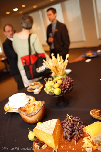 Snacks at a high-end reception