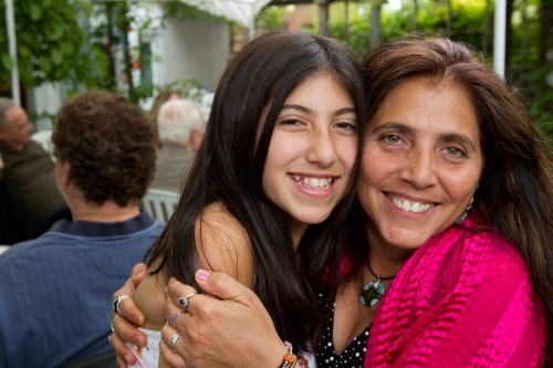 Bat Mitzvah and mom, photographed by Michael Willems