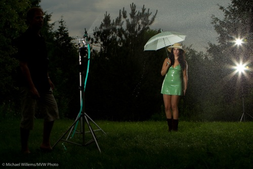 Tara Elizabeth in the rain, by Michael Willems