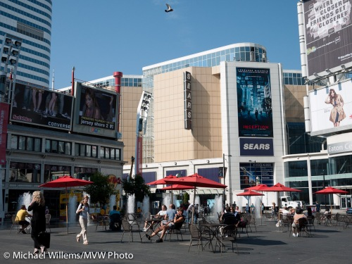 Yonge-Dundas Square, 27 July 2010, photo by Michael Willems