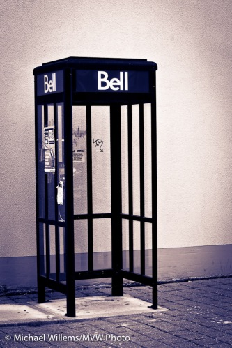 Phone box in Oakville, by Michael Willems