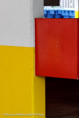 Red, Yellow and Blue (bins), by Michael Willems